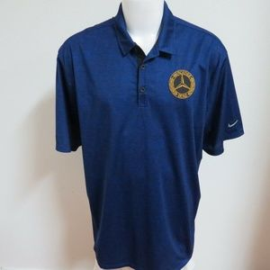 2XL Blue Nike Dri-Fit Mens db Polyester #693 Polo